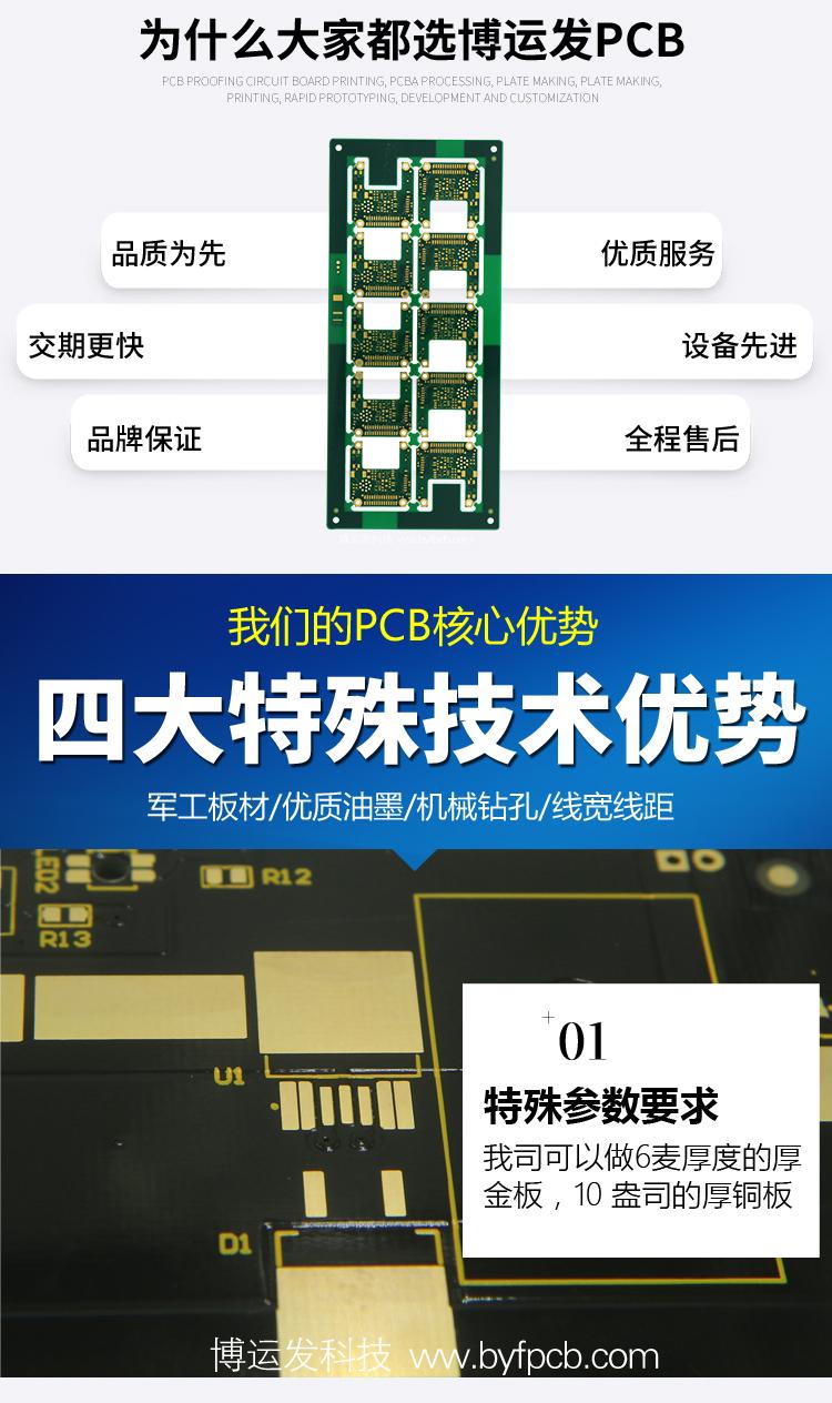 通讯模块PCB--PCB厂家_电路板线路板厂家_PCB电路板打样_高频板电路板制作-深圳博运发